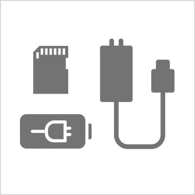 Connectique, alimentation, chargeur, piles, batteries, oeilletons, filtres, capuchons, protections écran, pare-soleil, cartes-mémoires, clefs USB, disques durs, télécommandes, kits nettoyages
